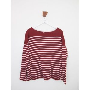 Lou & Grey Pink and Red Striped Long Sleeve Top